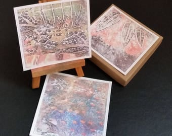 small square print collection - set of 6