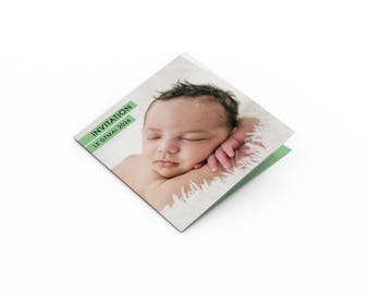 Birthday invitation card - A customize - model Augustin - birthday invitation card - child/adult