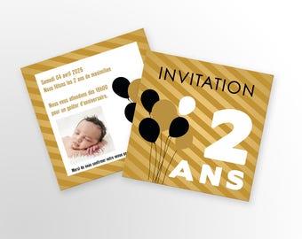 Birthday invitation card - A customize - model Maximilian - birthday invitation card - child/adult