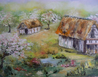 knife oil landscape of our beautiful Normandy