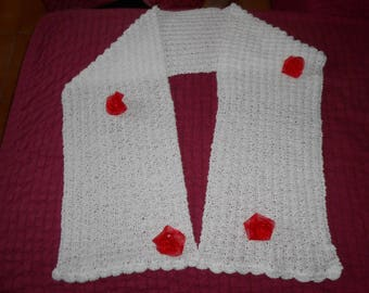 ceremony out white knit scarf