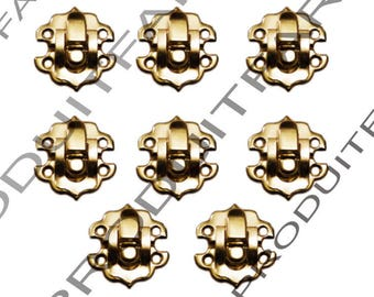 Set of 8 clasps Laitone latch lock box treasure chest box 30 by 30 mm screw included
