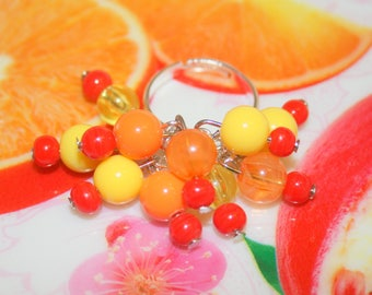 "Beaded fruit collection ""tutti frutti"" ring"