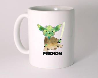 """""""YODA STAR WARS"""" custom ceramic MUG"""
