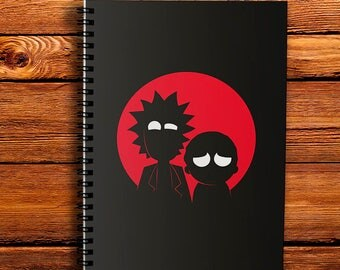 Ricky and Morty Notebook Spiral Notebook A4 Gift Notepad Ricky Notebook A5 Morty Notebook Customized Planner Gift for her Personalized Note