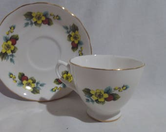Royal Vale Bone China Teacup and Saucer