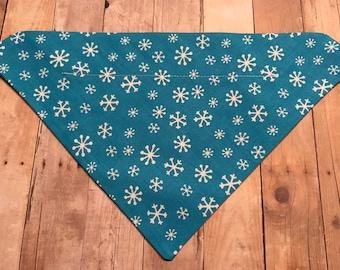 Snowflake dog bandana
