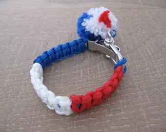 blue/white/red line bracelet