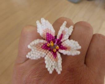 Miyuki cherry blossom ring