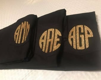 Monogram pocket t