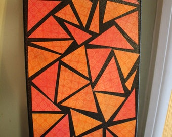 Pink, Orange, and Black Wall Art