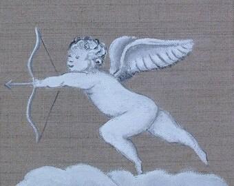 Acrylic painting on canvas - Ange Cupidon