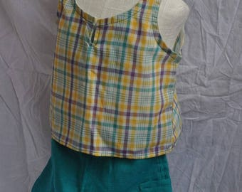 All baby Cap tunic sleeveless and cropped 12/18 months