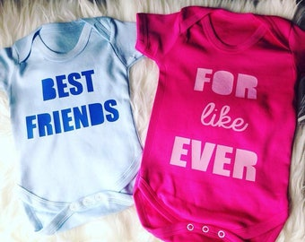 Best Friends For Like Ever Matching Vests Baby Clothing Besties Gifts
