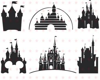 Disney Svg, Disney Svg File, Disney Silhouette, Disney Clipart, Disney Cut File, Disney Vector, Castle Svg,  Disney File Svg Eps Pdf Png Dxf