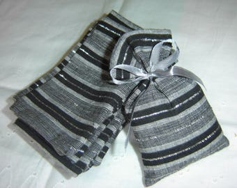 16 covers in cotton black gray and silver
