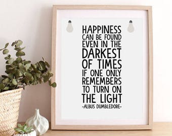 Albus Dumbledore Quote Prints, Harry Potter Quote Poster, Harry Potter Wall Decor, Albus Dumbledore Inspirational Quote, Motivation Art