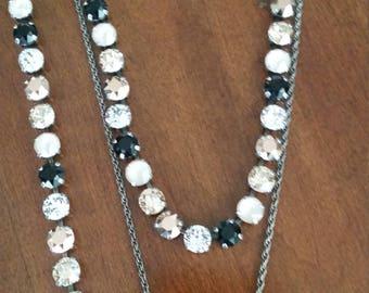 Swarovski crystal 4 piece necklace, bracelet and earring set.  SALE