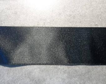 50mm plain black satin ribbon