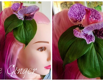 The Ginger - Orchid Tiki Hair Clip