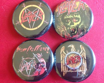SLAYER set of 4 buttons 1.25""