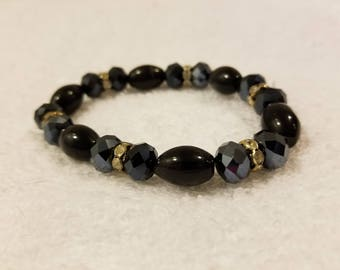Black tiger eye bracelet elastic