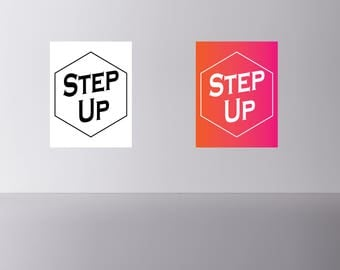 STEP UP  digital print Instant download wall art.  2 different 8X10 pictures Tony Robbins
