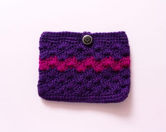 Crochet bag Purse Aroma Case Cosmetic Pouch Gift for Her Mother's Day Hand made