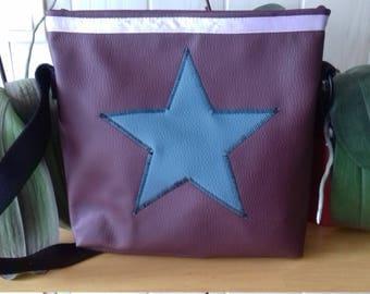 Shoulder bag purple, Blue Star