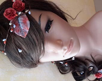 Special Crown headdress braid decorated with flowers