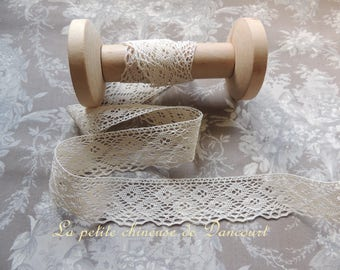 LACE HAS ANCIENNEDE UNBLEACHED 4 CM HEIGHT