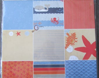 Set of 12 sheets for Scrapbooking-double sided - 30,5 x 30.5 cm
