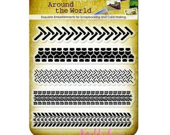 """Clear stamps """"Around the world 3"""" scrapbooking embellishment *."""