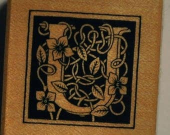 Wood stamp - Letter U