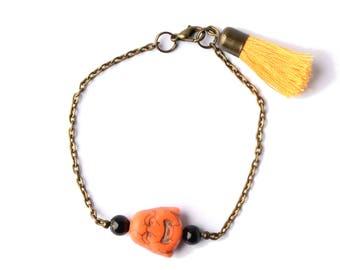 Ethnic bracelet Buddha & tassel