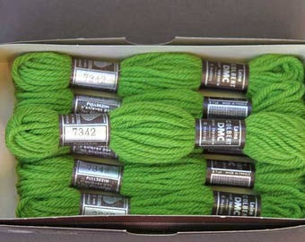 8 m skein 7342, green, 100% pure wool Colbert