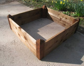 Large Raised Bed/Sturdy Wooden Garden Planter/Square Planting Box/Herb Planter/Vegetable Growspace/Pressure Treated FSC Sourced Spruce Wood