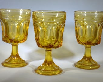 Small vintage Amber goblets