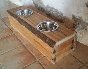 personalized cat or dog bar / stainless steel Bowl holder
