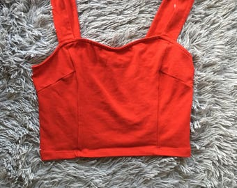 Vintage Express 90s Sweetheart Structured XS Crop Top