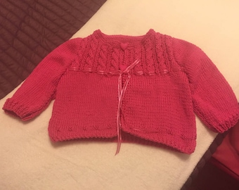 Fuchsia for girls Cable Cardigan