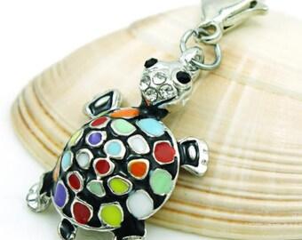 Multicolor turtle Charms pendant