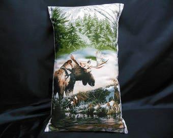 Rectangular Cushion cover, animals, Moose (C307R)