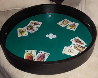 Can be used as game board round serving tray