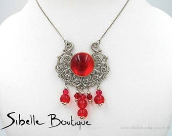 Candice - red (Cg5 - 1) necklace
