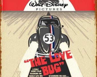 Herbie - The Love Bug movie poster - 'Grindhouse' Style