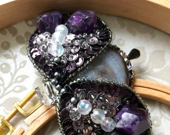 Handmade brooch for you!!! Gems and minerals. Made in Germany.