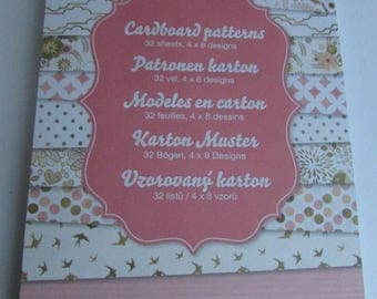 32 sheets blocks pattern card stock