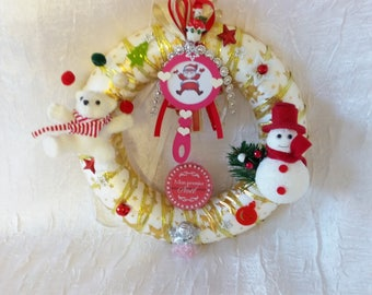 My first Christmas girl pink/Red/White/Gold Crown