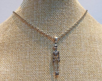 Skeleton silver necklace jewelry